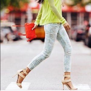 Cabi Paradise Palm Print Size 2 Crop Skinny Jean